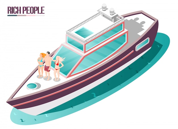 Rich life isometric composition