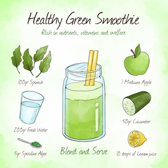 Rich in nutrients green smoothie recipe