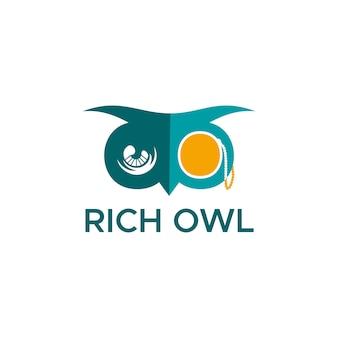 Rich owl logo
