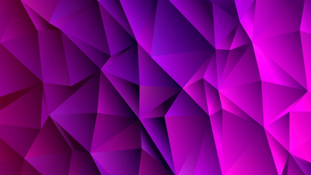 Rich purple triangle low poly backdrop design