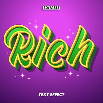 Rich text effect for fancy design