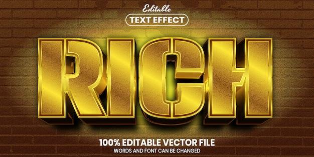 リッチテキスト、フォントスタイルの編集可能なテキスト効果
