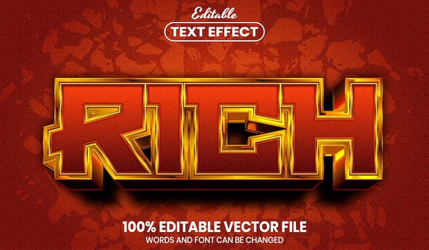Rich text, font style editable text effect