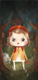 The ridding hood character