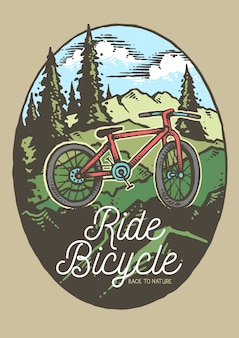 Ride bicycle mountain