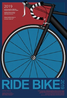 Ride bik cycling poster template