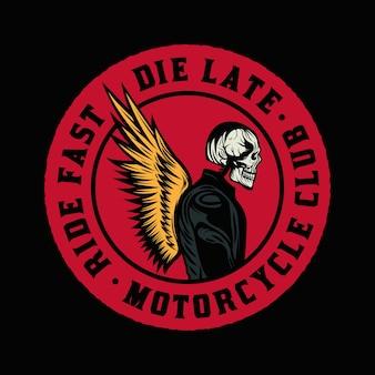 Ride fast motorcycle club 빈티지 배지 엠블럼