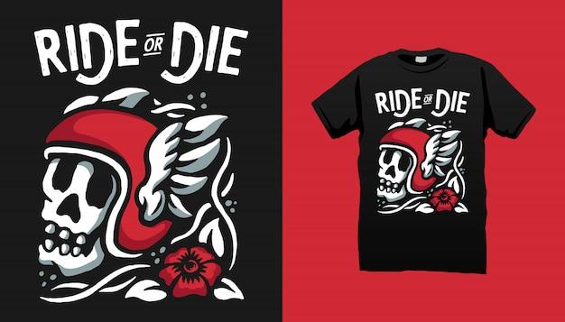 Ride or die футболка дизайн
