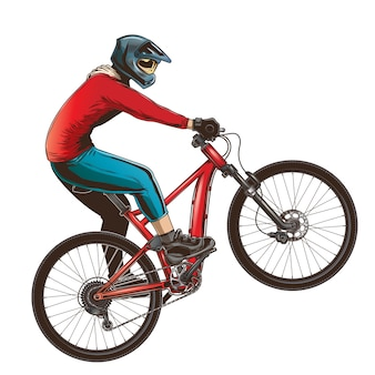 Ride on a sports bicycle
