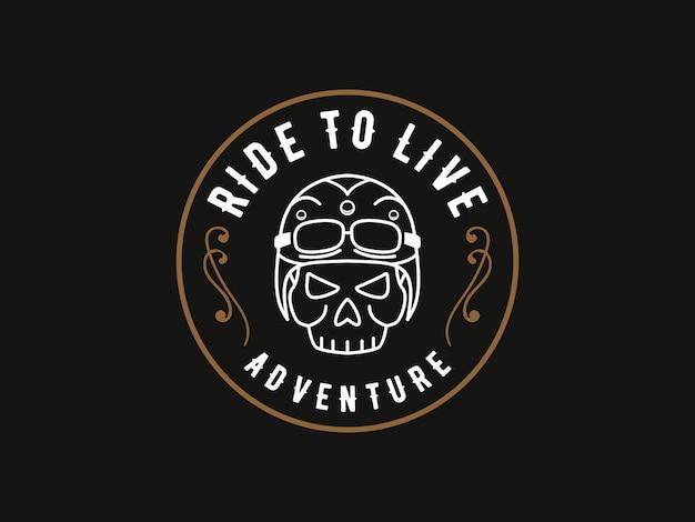 Поездка на жизнь, череп дизайнера логотипа
