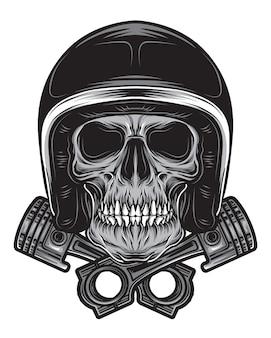 Rider skull vector