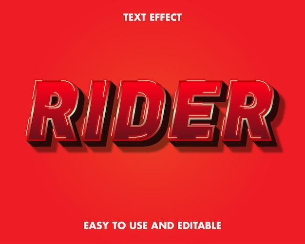 Эффект текста всадника. редактируемый стиль шрифта.