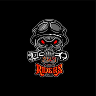 Riders club skull beat piston