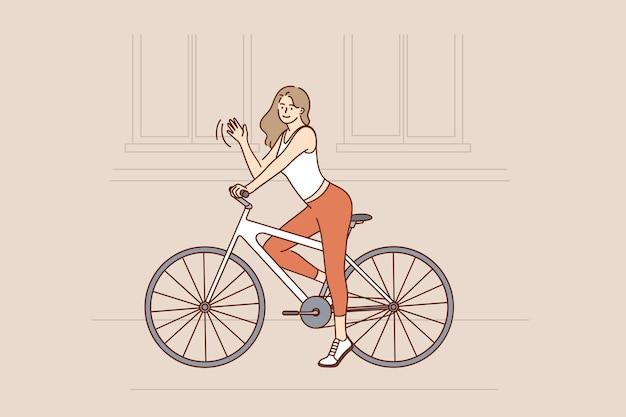 乗馬自転車とストリートアクティビティのコンセプト