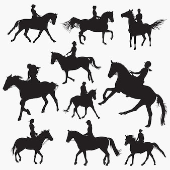 Ridinghorse silhouettes