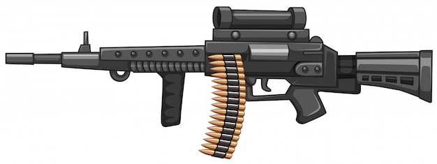 Rifle gun with bullets