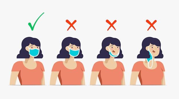 Правильное и неправильное на носящих масках
