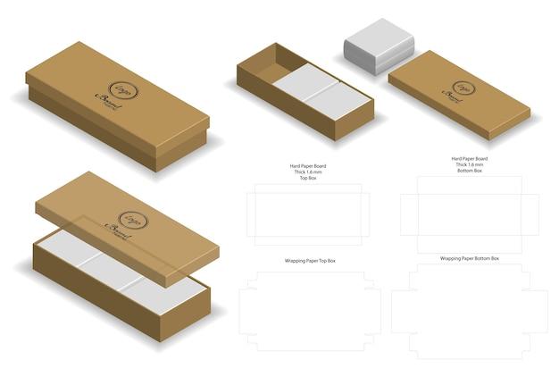 Жесткая коробка для мыльного макета с dieline