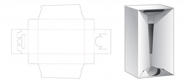 Rigid corrugated packaging box die cut template