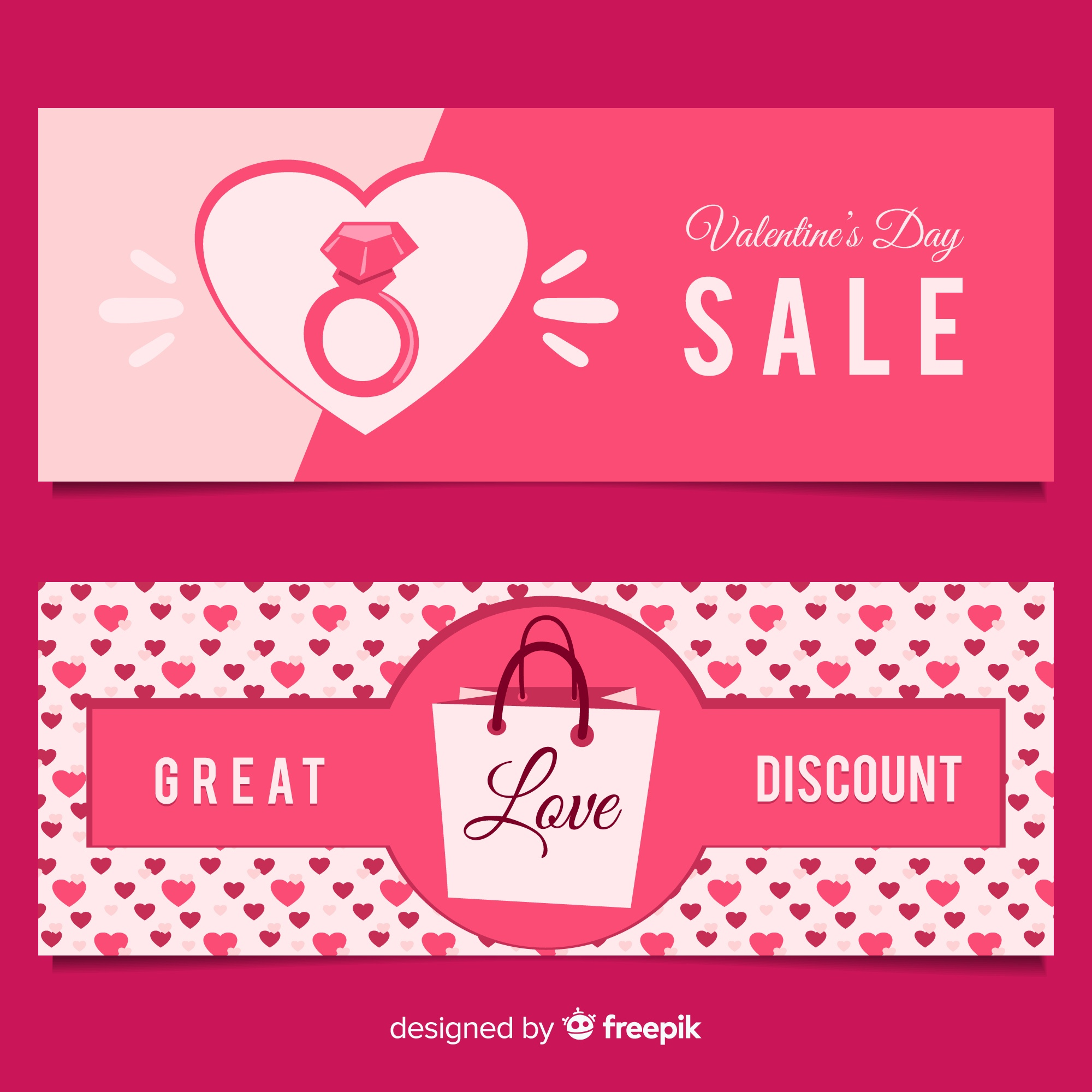 Ring and bag valentine sale banner