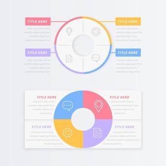 Кольцо дизайн коллекции инфографики