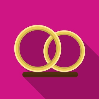 Ring flat icon illustration isolated vector sign symbol