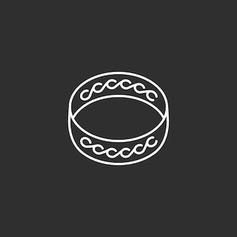 Ring icon. line art illustration