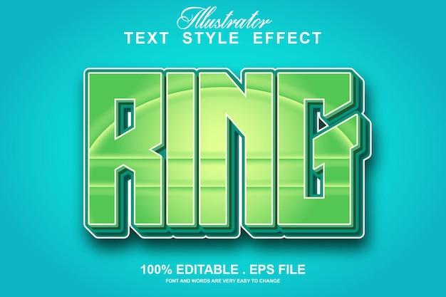 Редактируемый текстовый эффект кольца