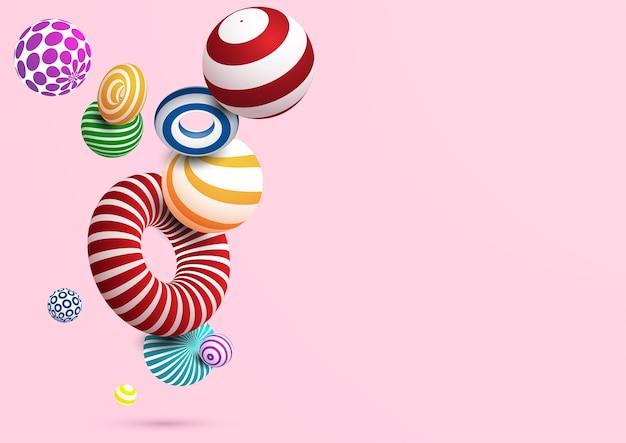 Абстрактный фон с красочными декоративный мяч и ring.vector eps10.