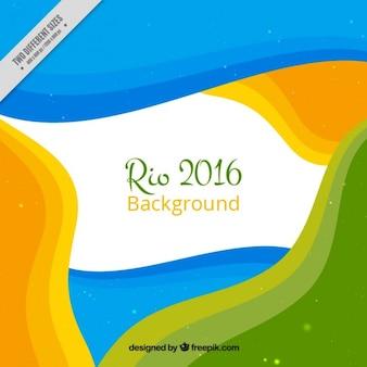 カラフルな抽象的な形リオ2016背景