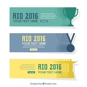 Rio 2016 года баннеры набор