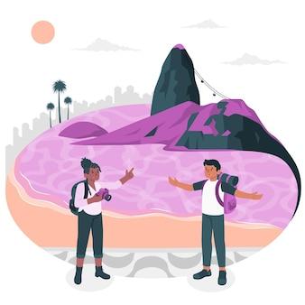 Иллюстрация концепции рио-де-жанейро
