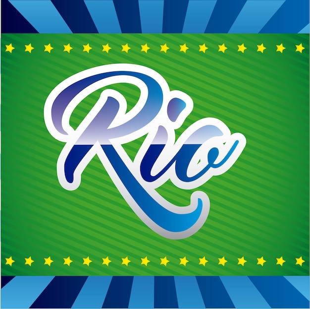 Игры rio дизайн векторные иллюстрации