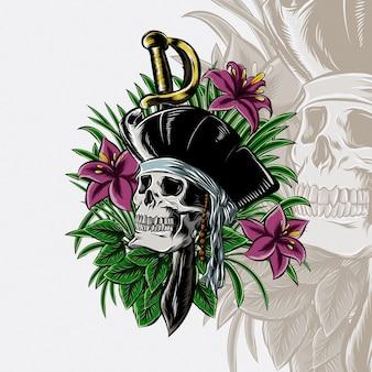 Rip pirates skull