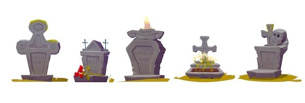 Rip碑文、古いテクスチャコケと墓石