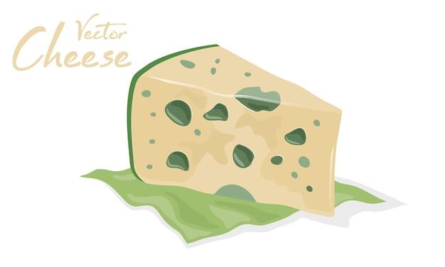 곰팡이와 잘 익은 숙성된 치즈.