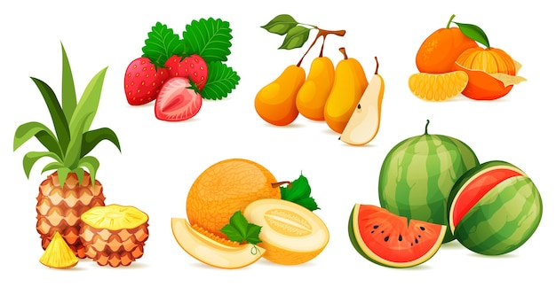 Ripe fruit composition or composing vector set