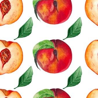 Шаблон спелых персиков