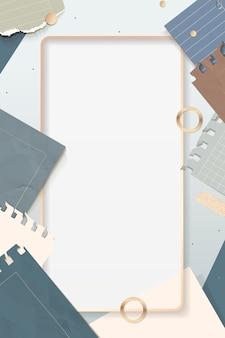Vettore di cornice rettangolare di note strappate
