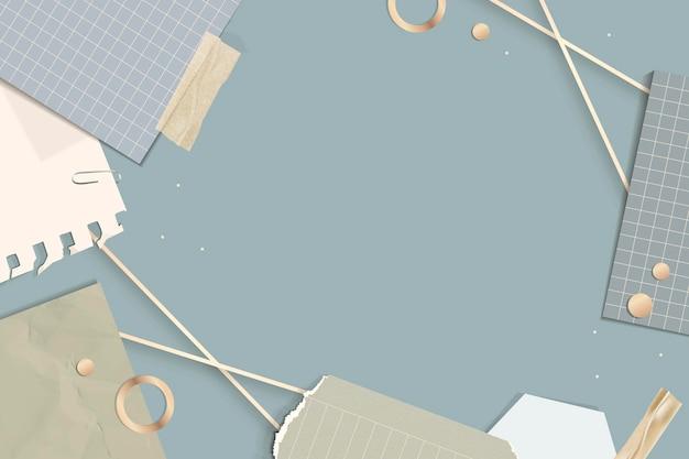 Рамка прямоугольника разорванных заметок