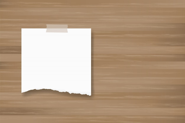 木のテクスチャに紙の背景スティックを裂いた。