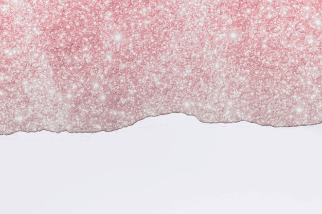 Ripped paper pink border vector on diy glittery background