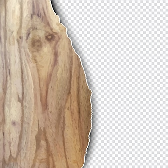 찢어진 종이 스타일 나무 질감
