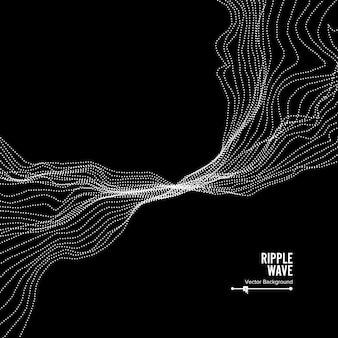 Фон волны. ripple grid. иллюстрация. всплеск воды или дыма