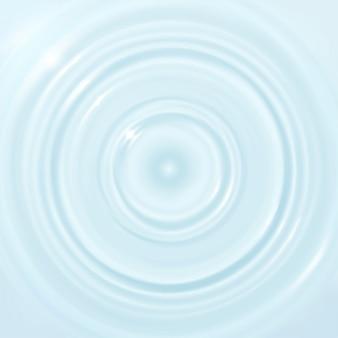 液滴の表面に波紋、水のしぶき、波。