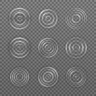 滴の表面に水の波の波紋のしぶき