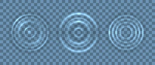 물 파도 표면의 리플 스플래시