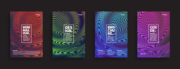 Ripple wave brochure covers set