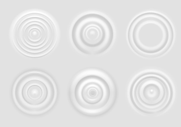 Ripple on white surface