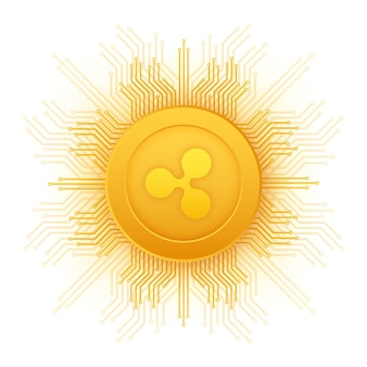 Ripple xrp crypto currency icon for apps and websites ripple logo for web and print